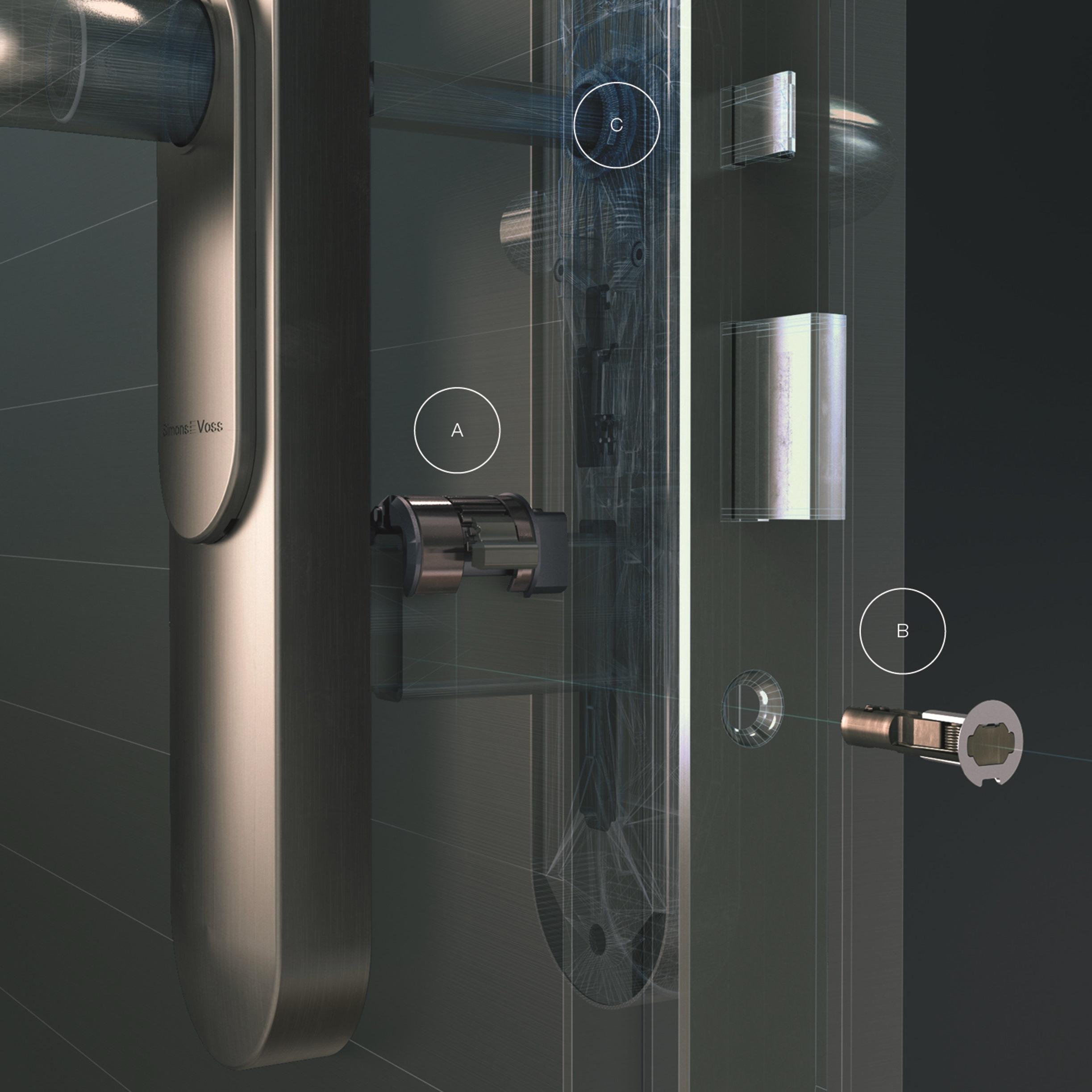 SimonsVoss DoorMonitoring -  Draadloze monitoring en status alerts van belangrijke deuren
